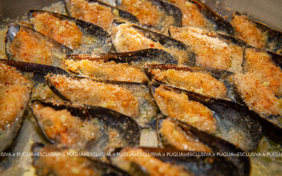 Cozze gratinate arraganate
